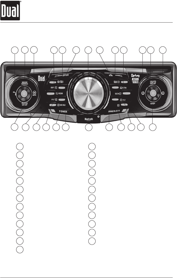 Page 4 Of Dual Car Stereo System Xdma7715 User Guide