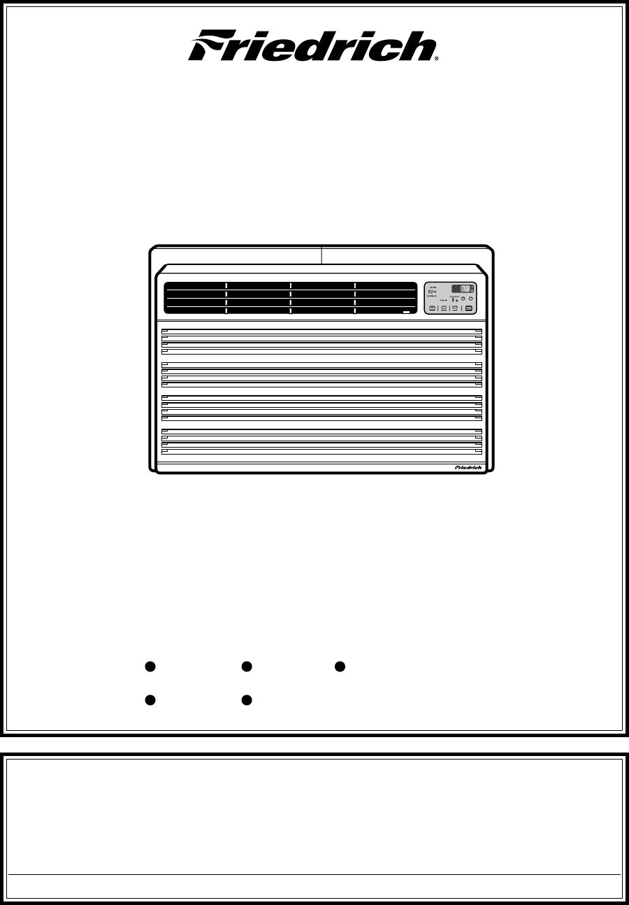 Friedrich Us10 Wiring Diagram Product Diagrams Air Conditioner User Guide Manualsonline Com Rh Homeappliance