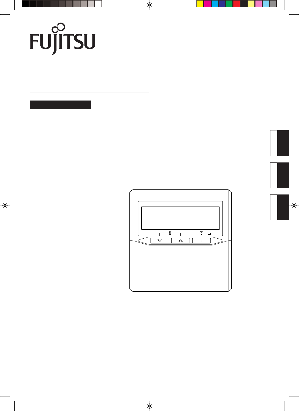 fujitsu air conditioner remote controller user guide