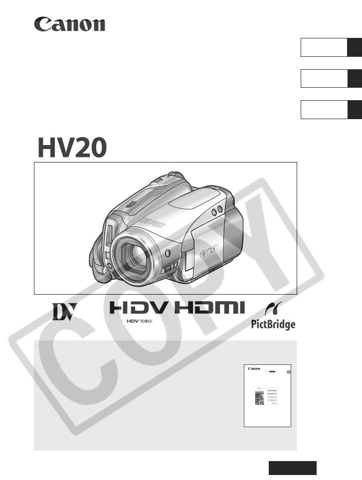 canon camcorder hv20 user guide manualsonline com rh camera manualsonline com Canon HV30 User 1C V8 2