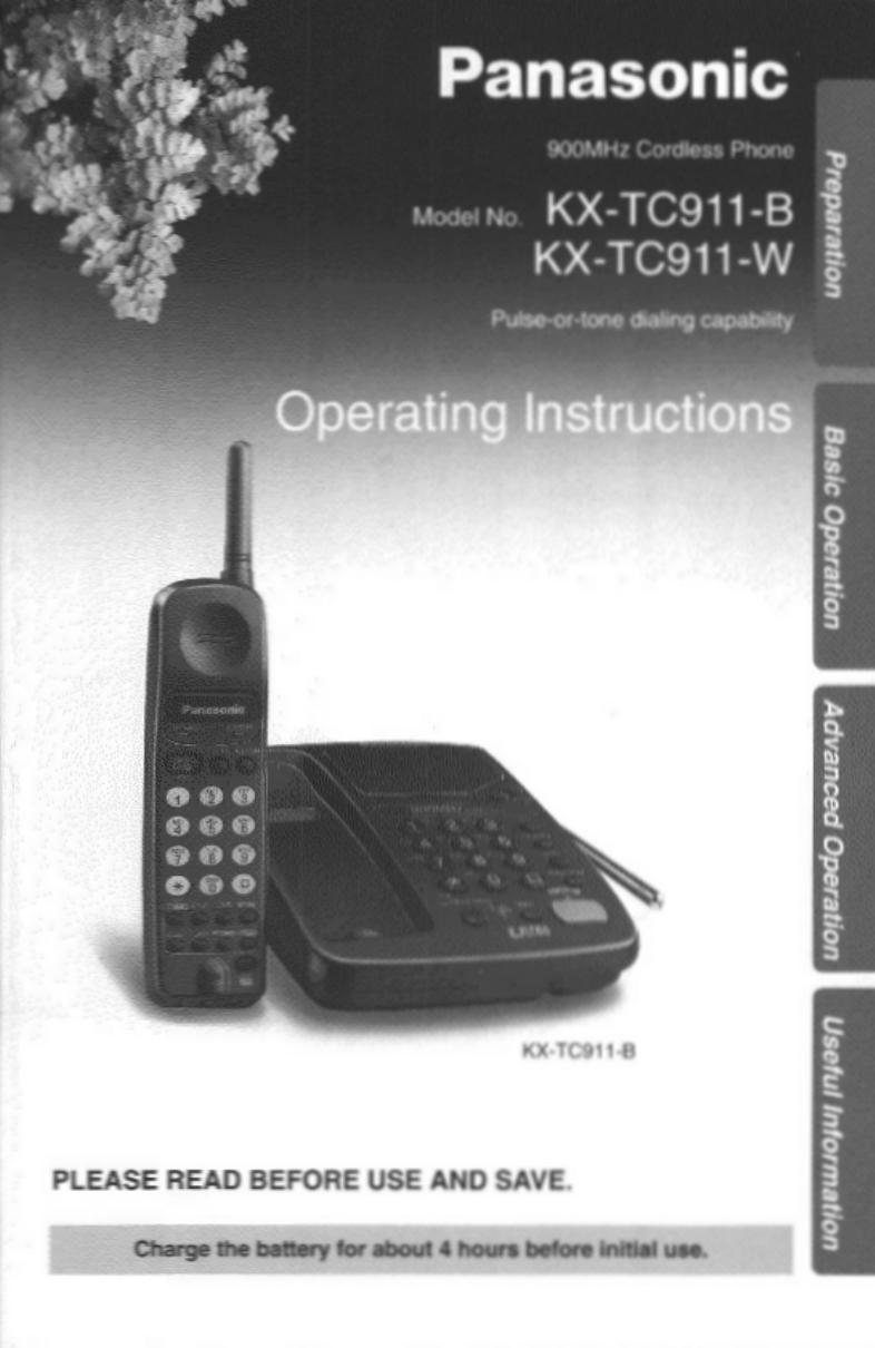 Инструкция для телефона panasonic 900mhz cordles