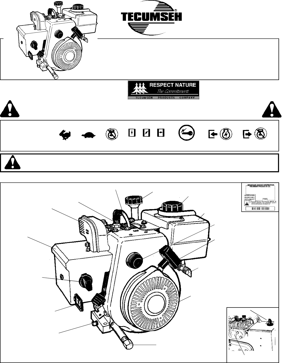 tecumseh snow blower hsk35 40 hssk50 user guide manualsonline com california proposition 65 warning the engine exhaust from this product contains chemicals