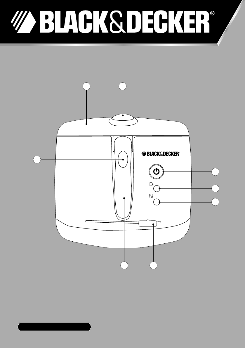 Black Amp Decker Fryer EF2500 User Guide