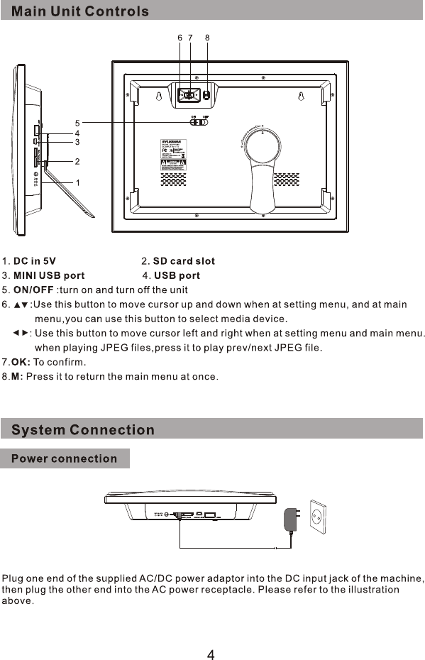 Page 6 of Sylvania Digital Photo Frame SDPF1089 User Guide ...