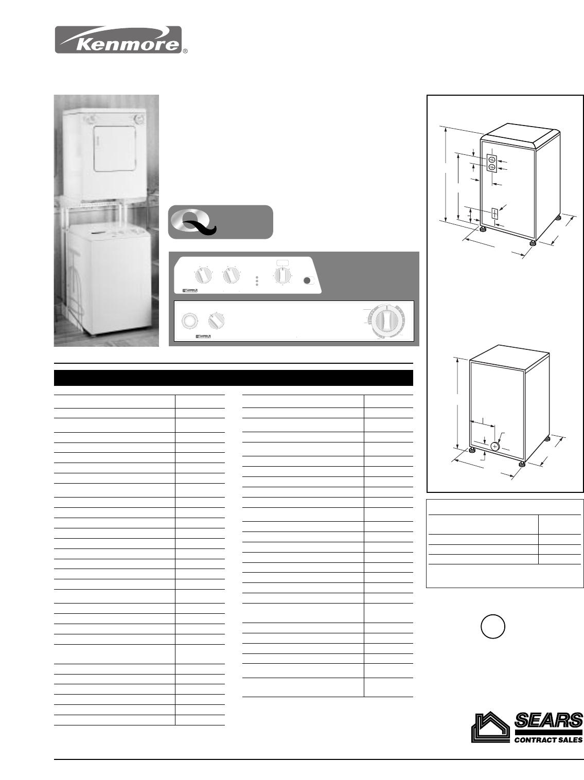 kenmore washerdryer user manual