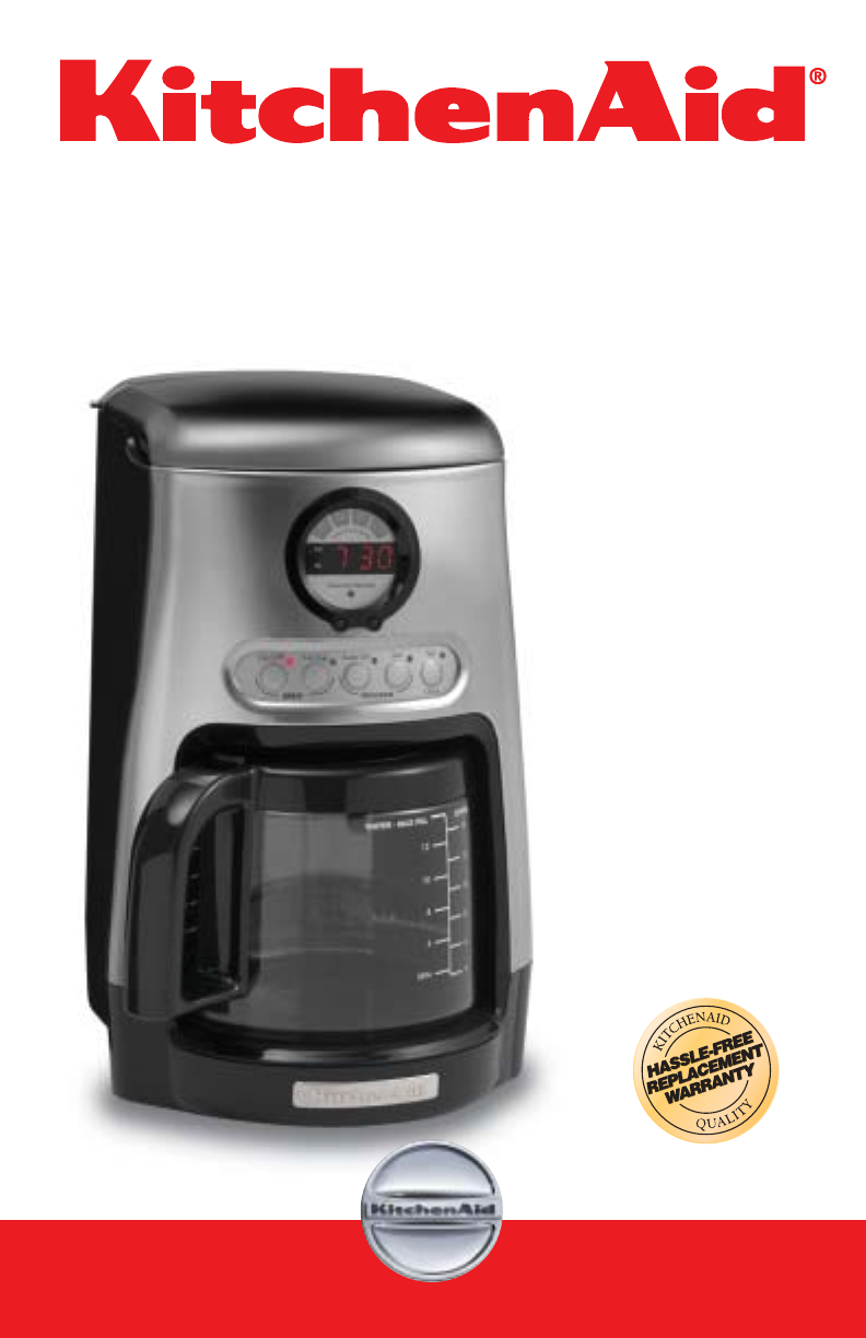 Kitchenaid Coffee Maker How To Use : Kitchenaid: Kitchenaid Coffee Maker Manual