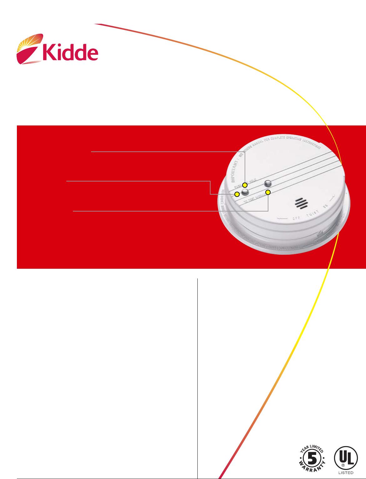 kidde smoke alarm 1275e user guide manualsonline com