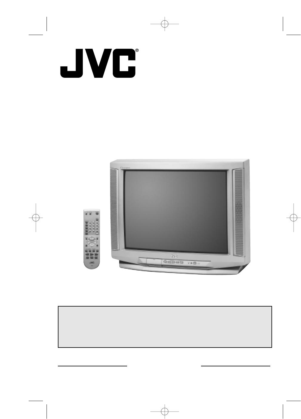 Jvc Crt Television Av 27230 User Guide