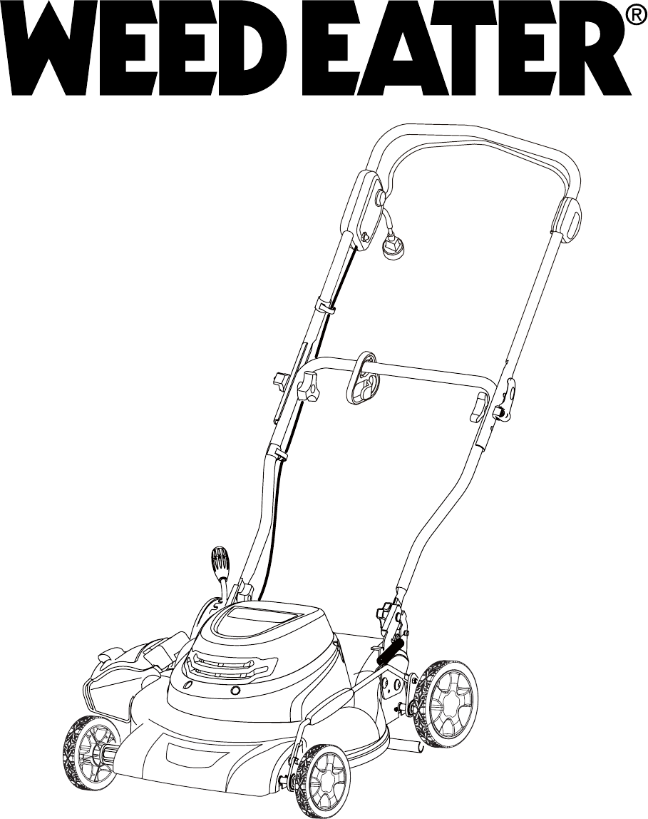 Weed Eater Lawn Mower 96112010100 User Guide