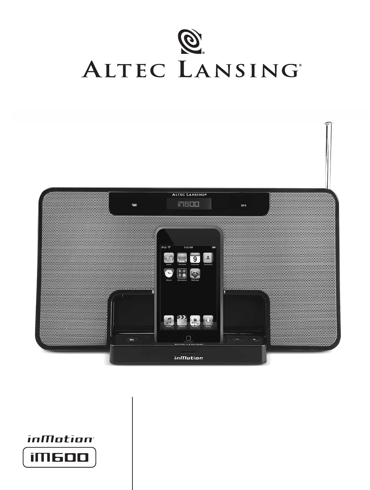 altec lansing mp3 docking station im600 user guide manualsonline com rh portablemedia manualsonline com altec lansing inmotion im600 service manual altec lansing inmotion im600 service manual