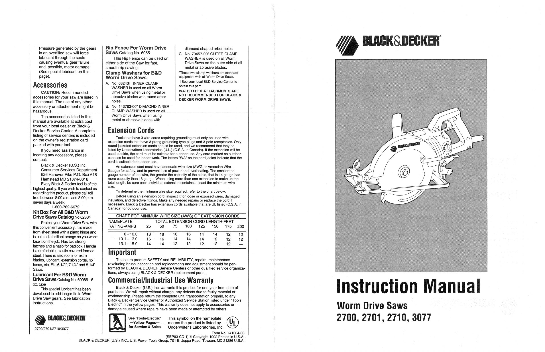 Black & Decker Saw 2700 User Guide   ManualsOnline.com