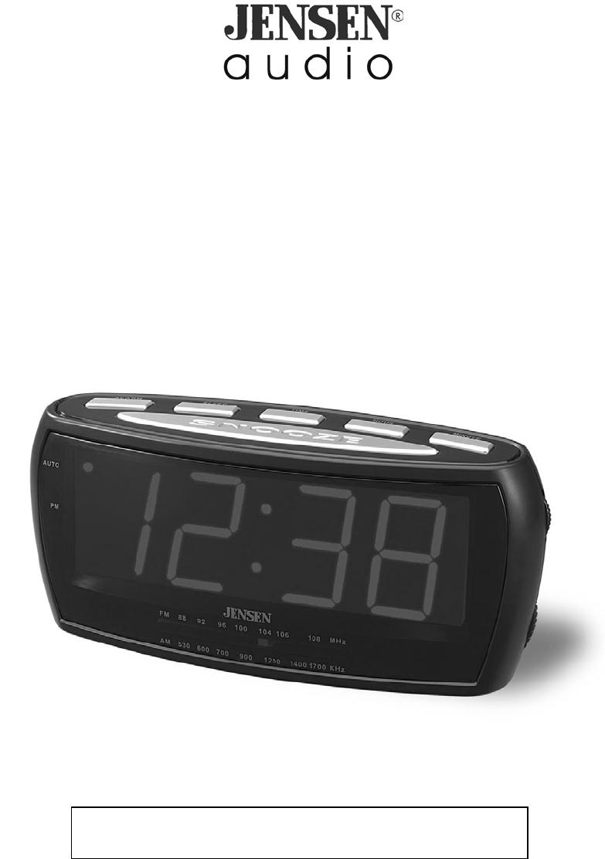 jensen clock radio jcr 208 user guide. Black Bedroom Furniture Sets. Home Design Ideas