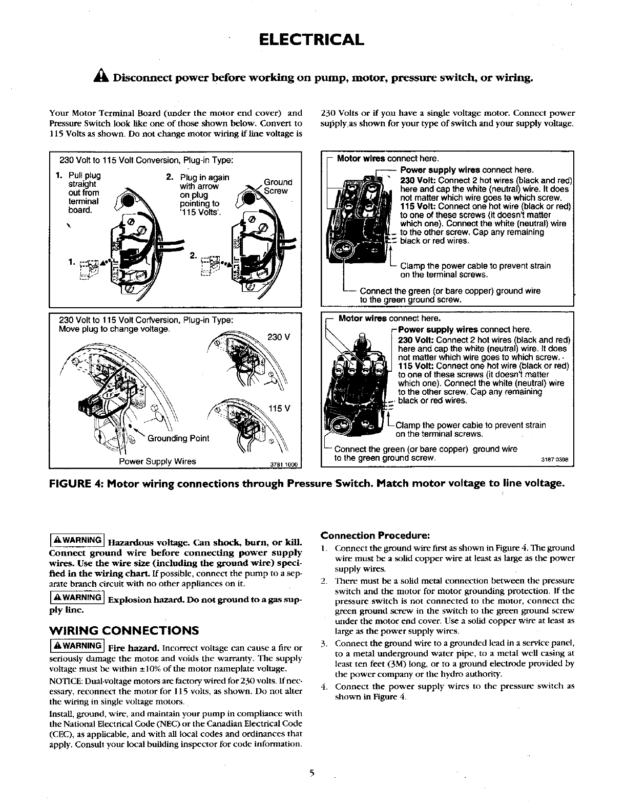 page 5 of craftsman water pump 390 251483 user guide manualsonline com rh homeappliance manualsonline com Owner S Manual Craftsman 917 Craftsman Snowblower Manual