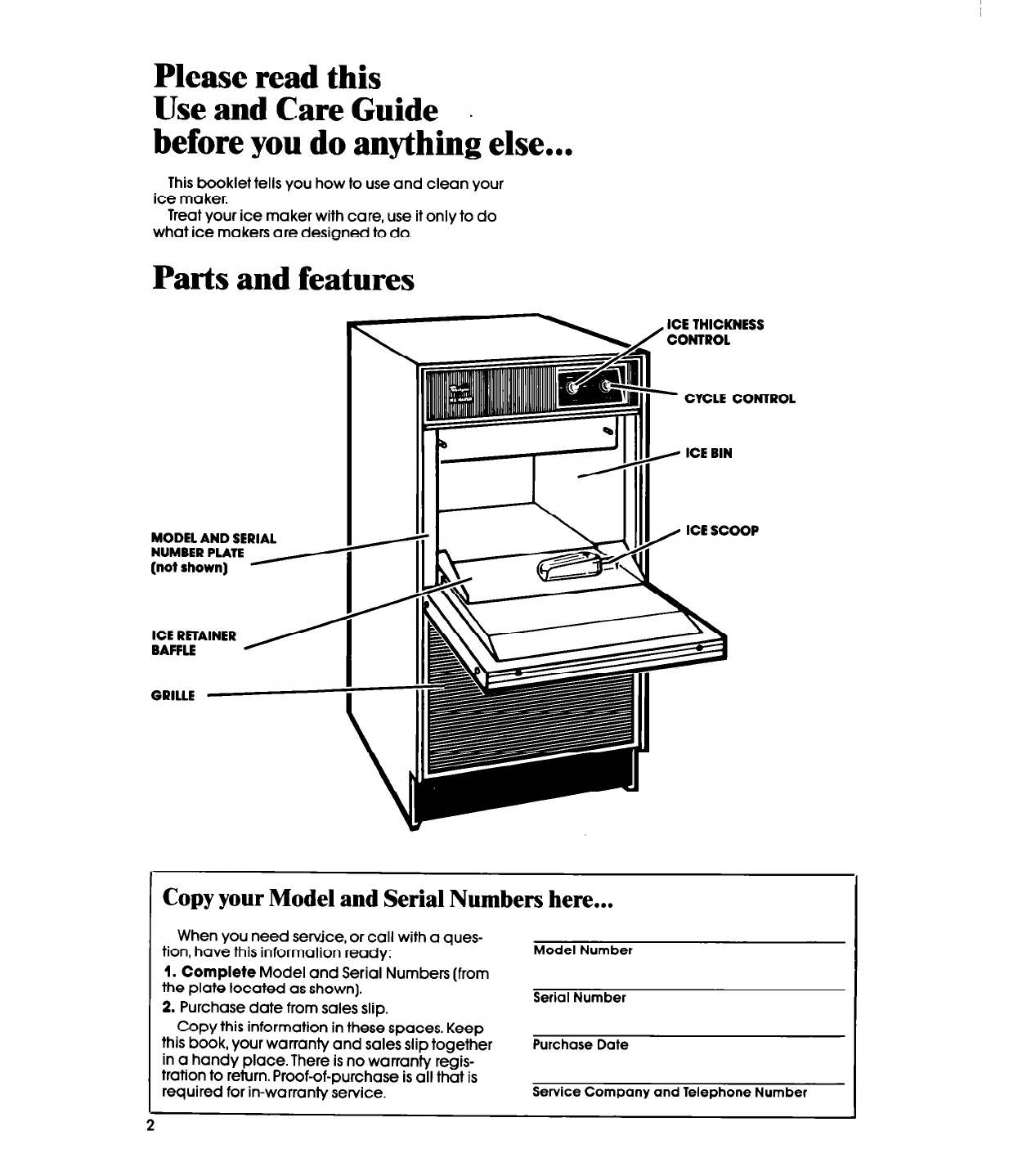 page 2 of whirlpool ice maker ec5100xp user guide manualsonline com rh kitchen manualsonline com Whirlpool Ice Maker Wiring Harness Whirlpool Ice Maker Troubleshooting Tips