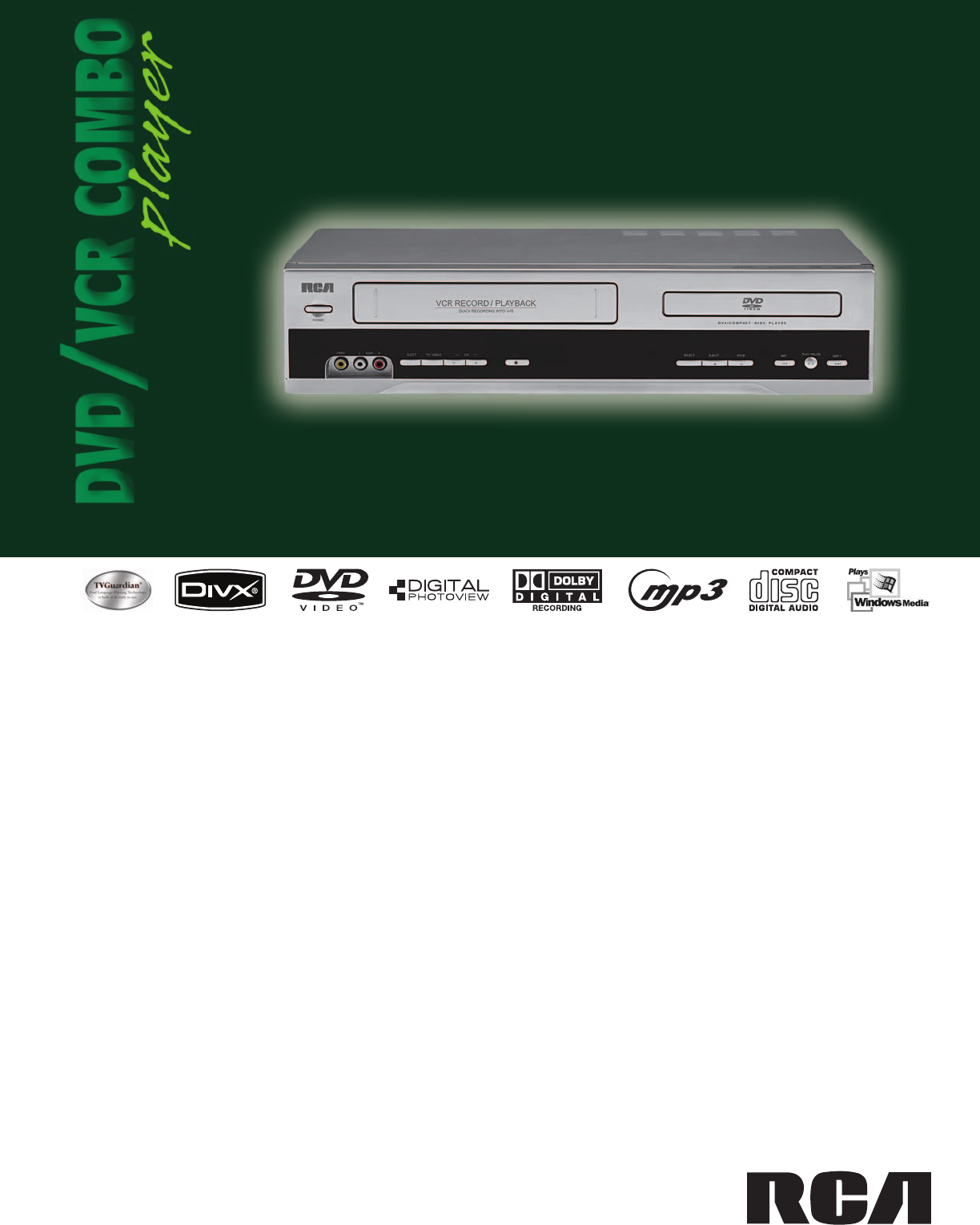 rca dvd vcr combo drc6355n user guide manualsonline com rh tv manualsonline com Sharp TV VCR Sharp VCR Owner's Manual