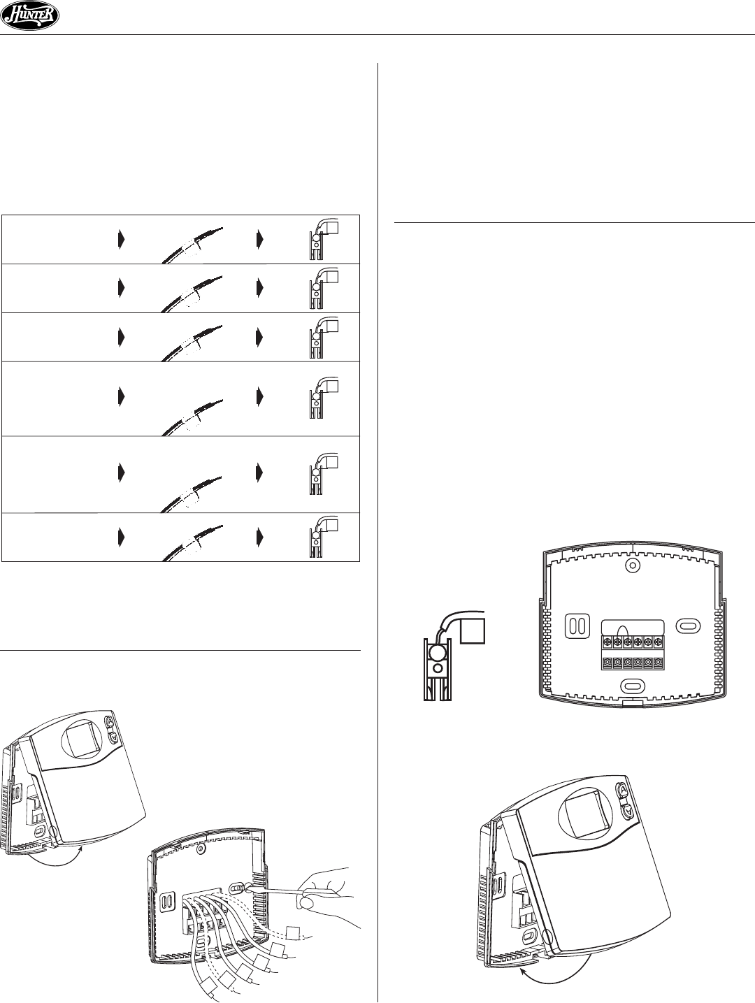 hunter thermostat wiring diagram wiring diagram page 3 of hunter fan thermostat 44260 user manuals hunter thermostat wiring diagram 44260 diagrams