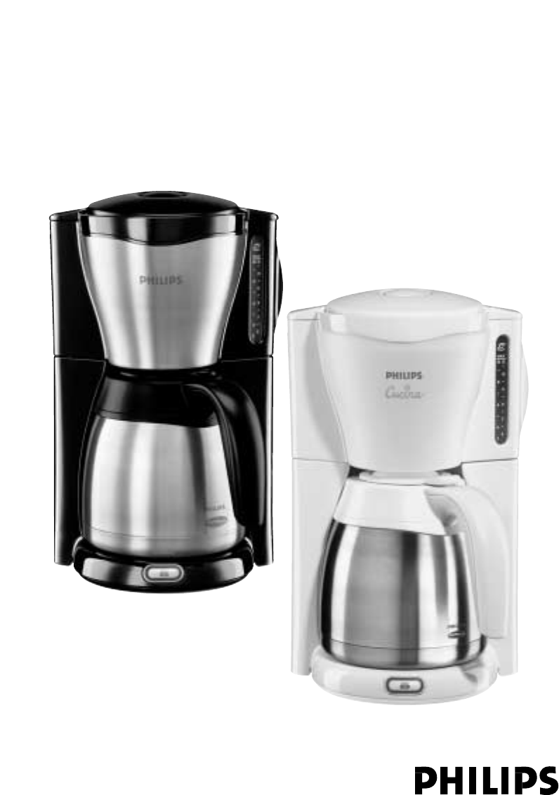 Philips Coffee Maker Replacement Carafe : Philips Coffeemaker HD7546 User Guide ManualsOnline.com