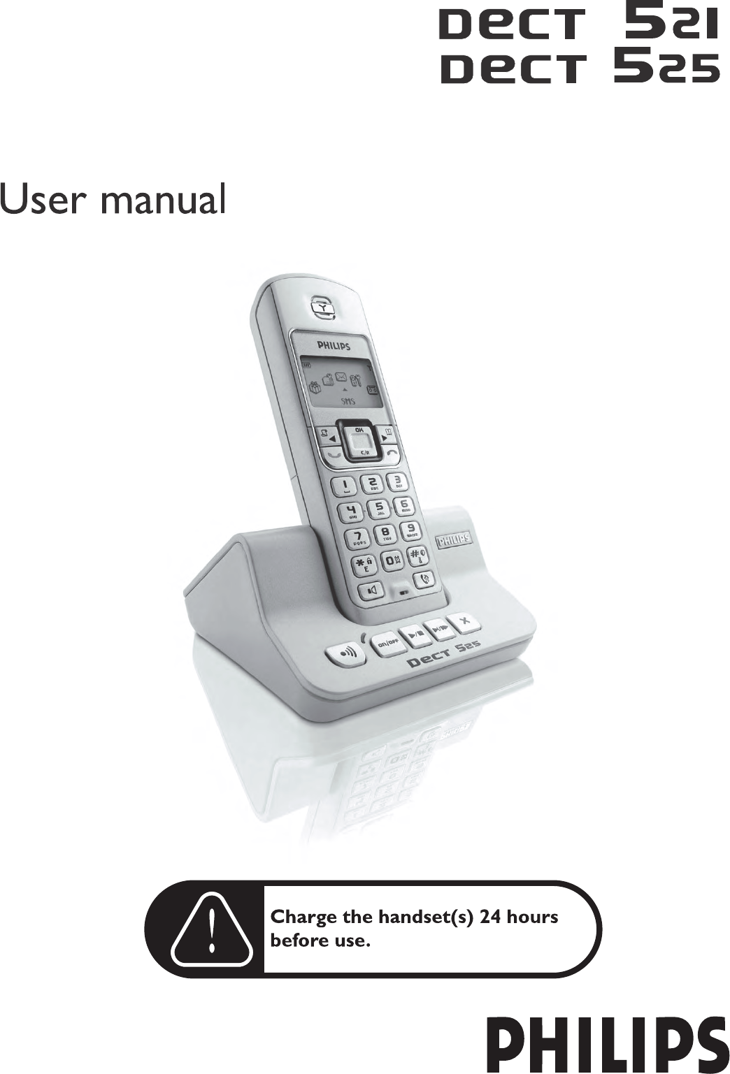 philips cordless telephone dect521 dect 525 user guide rh phone manualsonline com Philips DVD Player Manual Philips TV Manual
