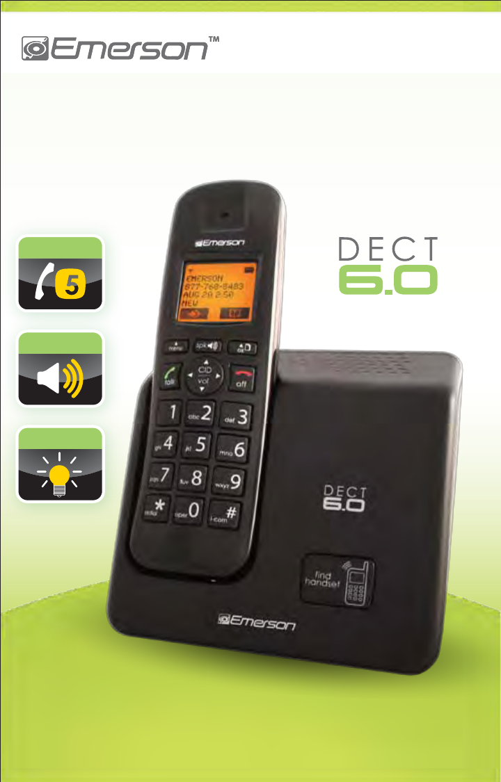 Emerson Cordless Telephone Em6000 User Guide