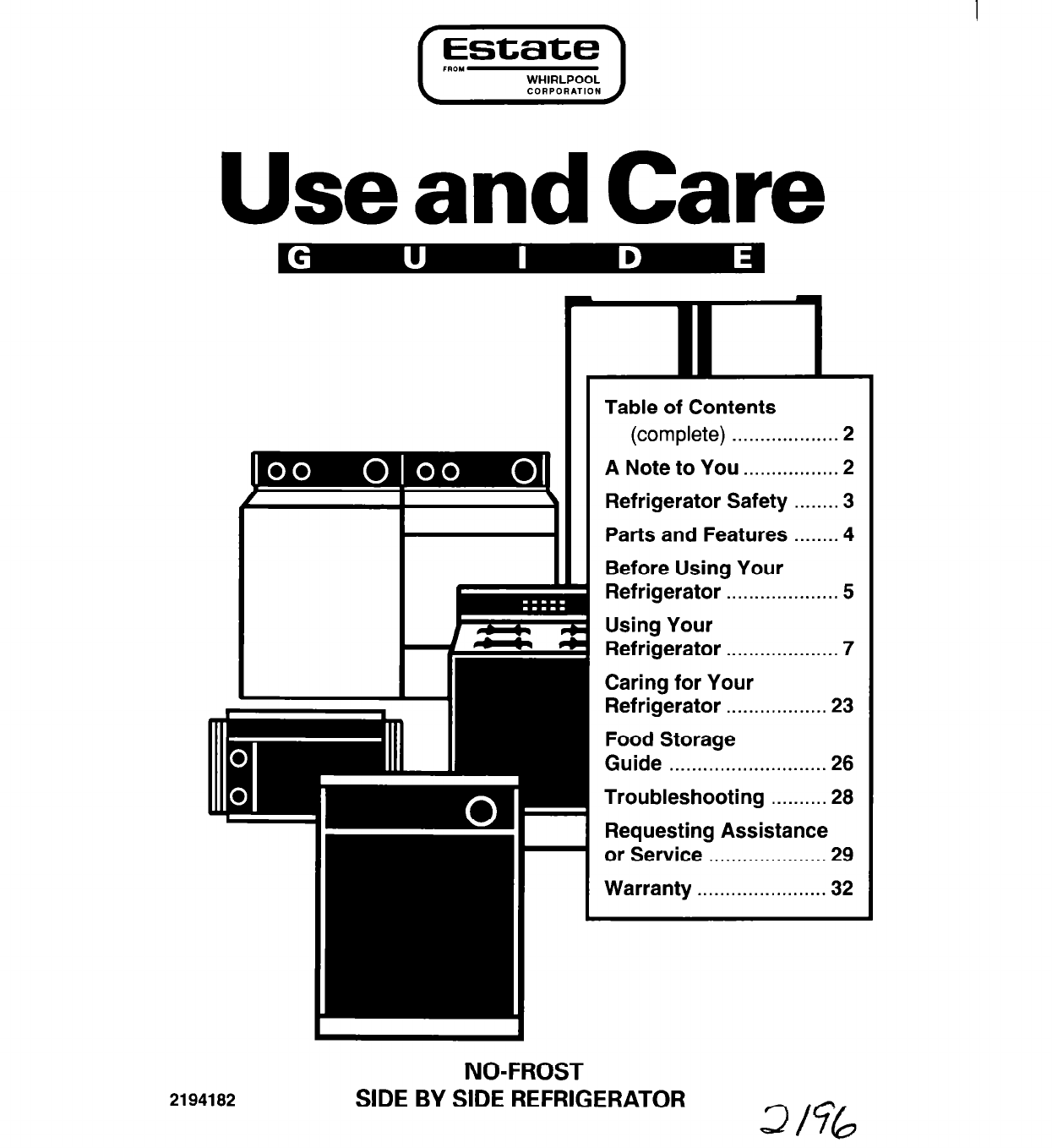 whirlpool refrigerator 2194182 user guide
