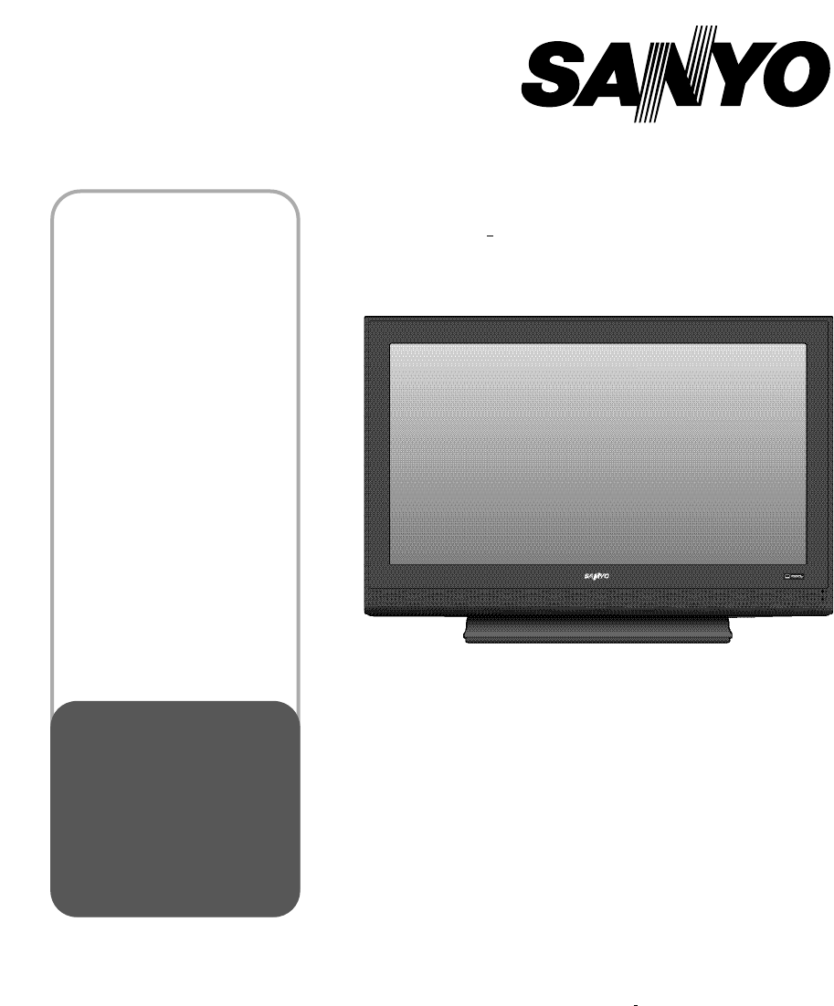 sanyo flat panel television dp52848 user guide manualsonline com rh tv manualsonline com sanyo tv owner manual sanyo tv user guide manual