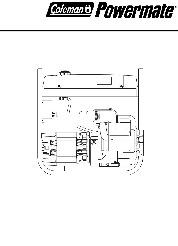 powermate portable generator pc0525302 03 user guide manualsonline com rh  lawnandgarden manualsonline com coleman powermate 6875 manual coleman ...