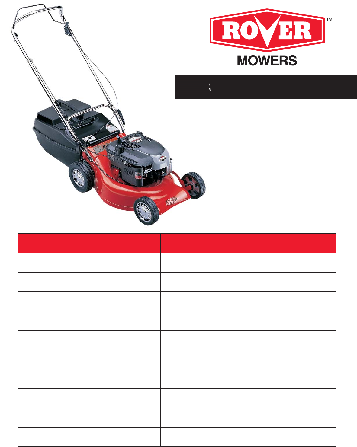 rover lawn mower 75m92 user guide manualsonline com rh lawnandgarden manualsonline com