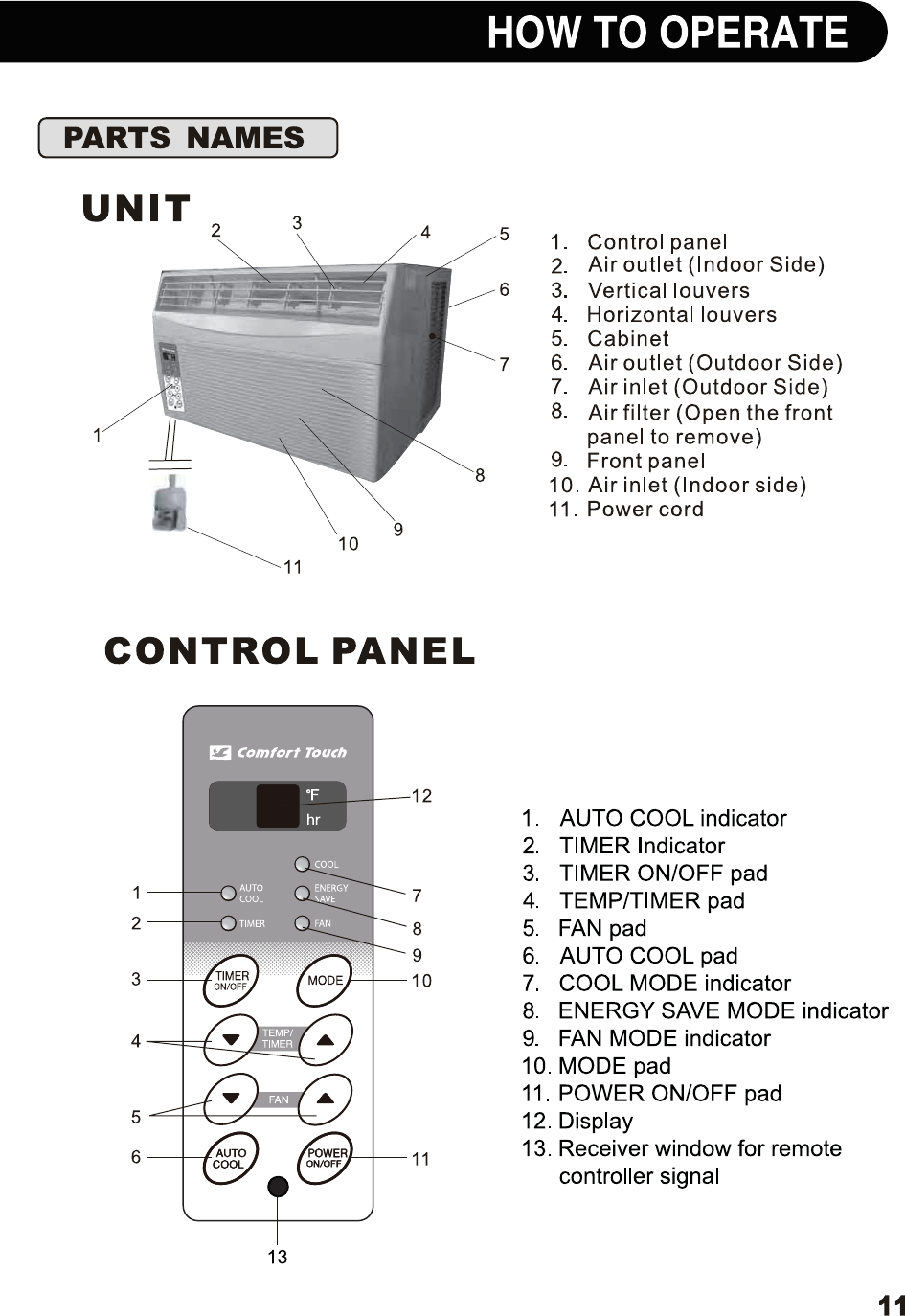 page 11 of sharp air conditioner af s85rx user guide manualsonline com rh homeappliance manualsonline com