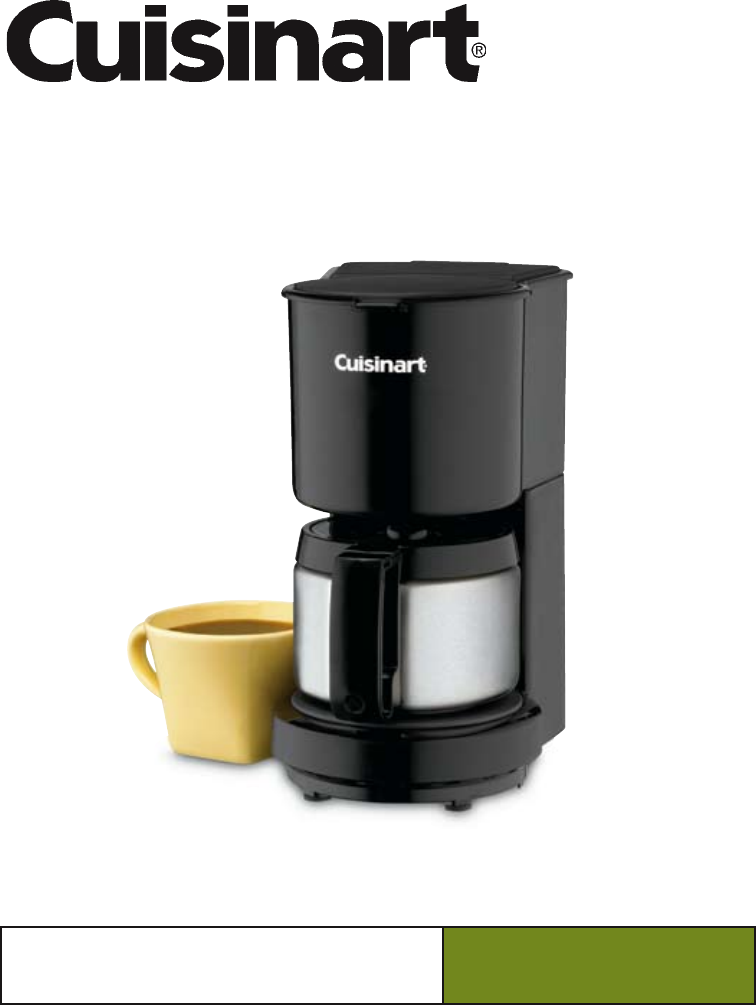 Ge Programmable Coffee Maker Manual : Cuisinart Coffee Maker Instruction Manual - Bing images