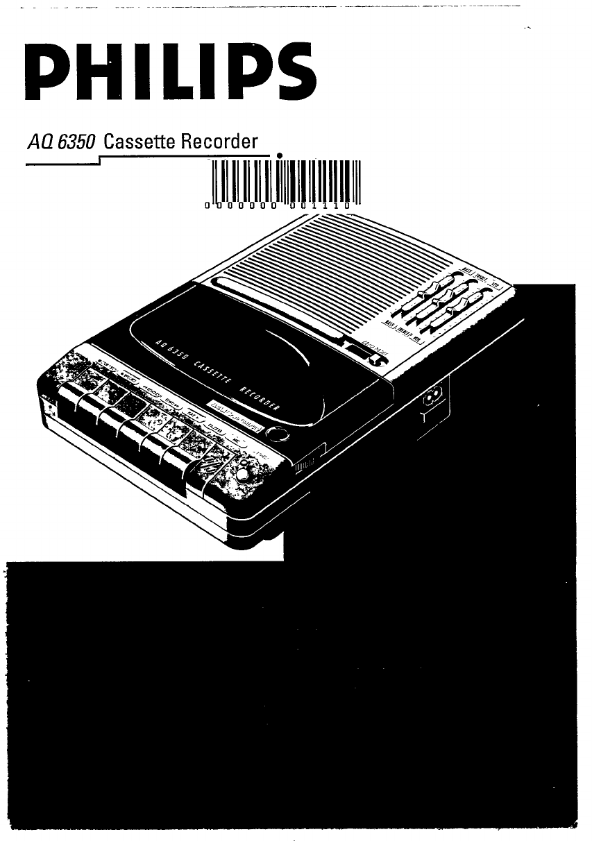 Philips AQ 6350 Cassette Player User Manual