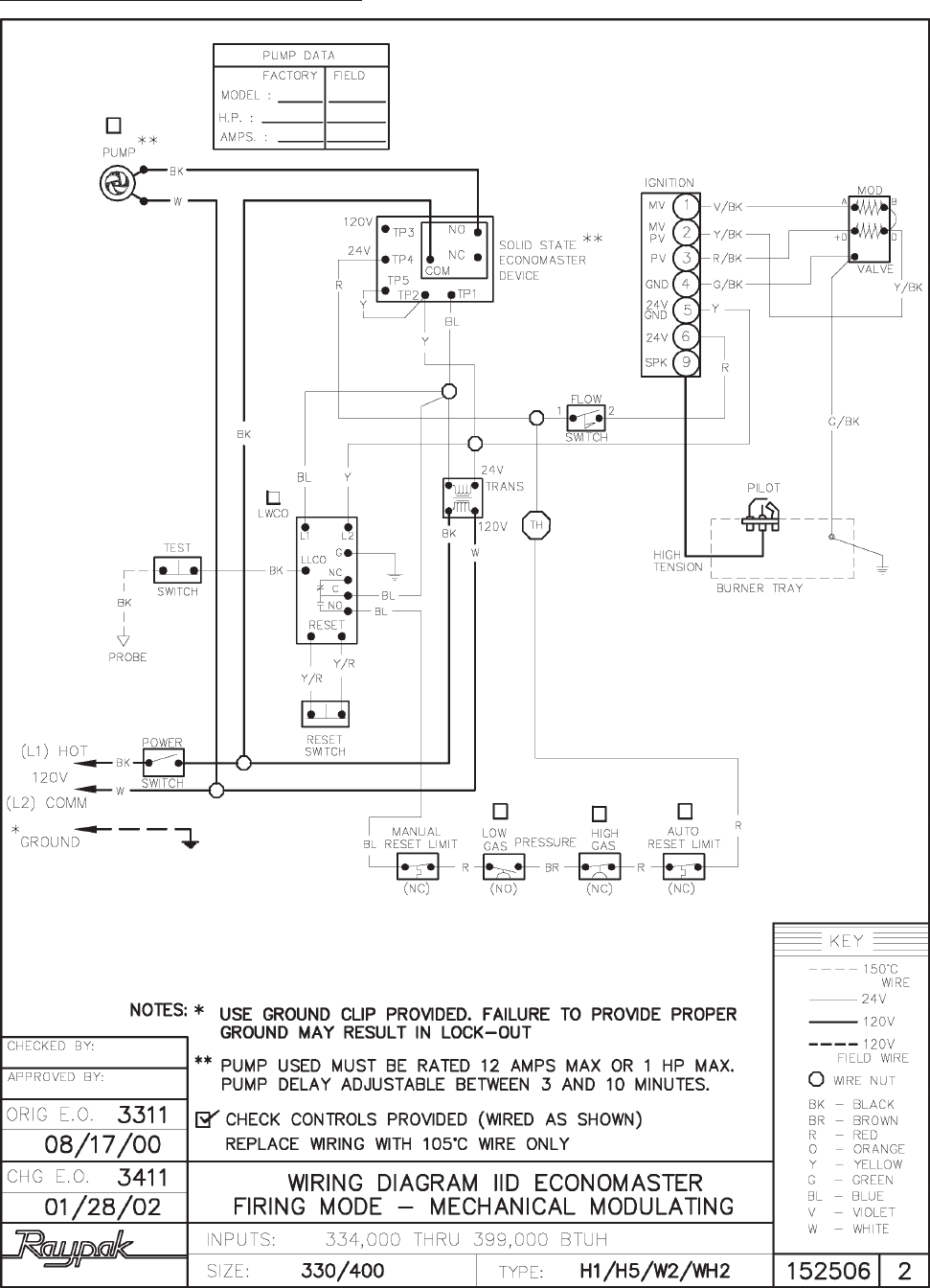 page of raypak electric heater nh user guide manualsonline com wiring diagram wh2 330 400