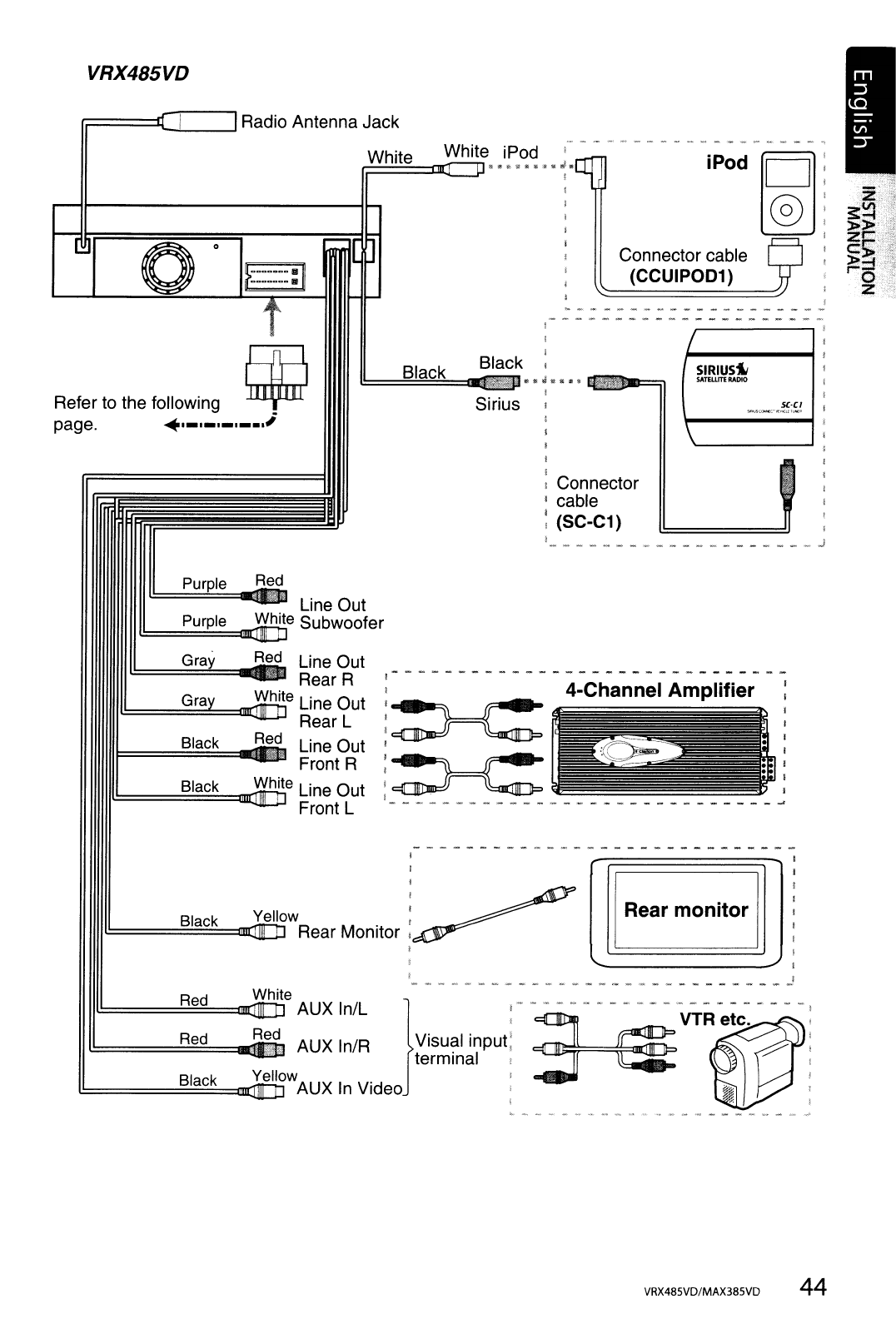 Page 44 of Clarion Car Stereo System MAX385VD User Guide | ManualsOnline.comCar Audio and Video Manuals - ManualsOnline.com