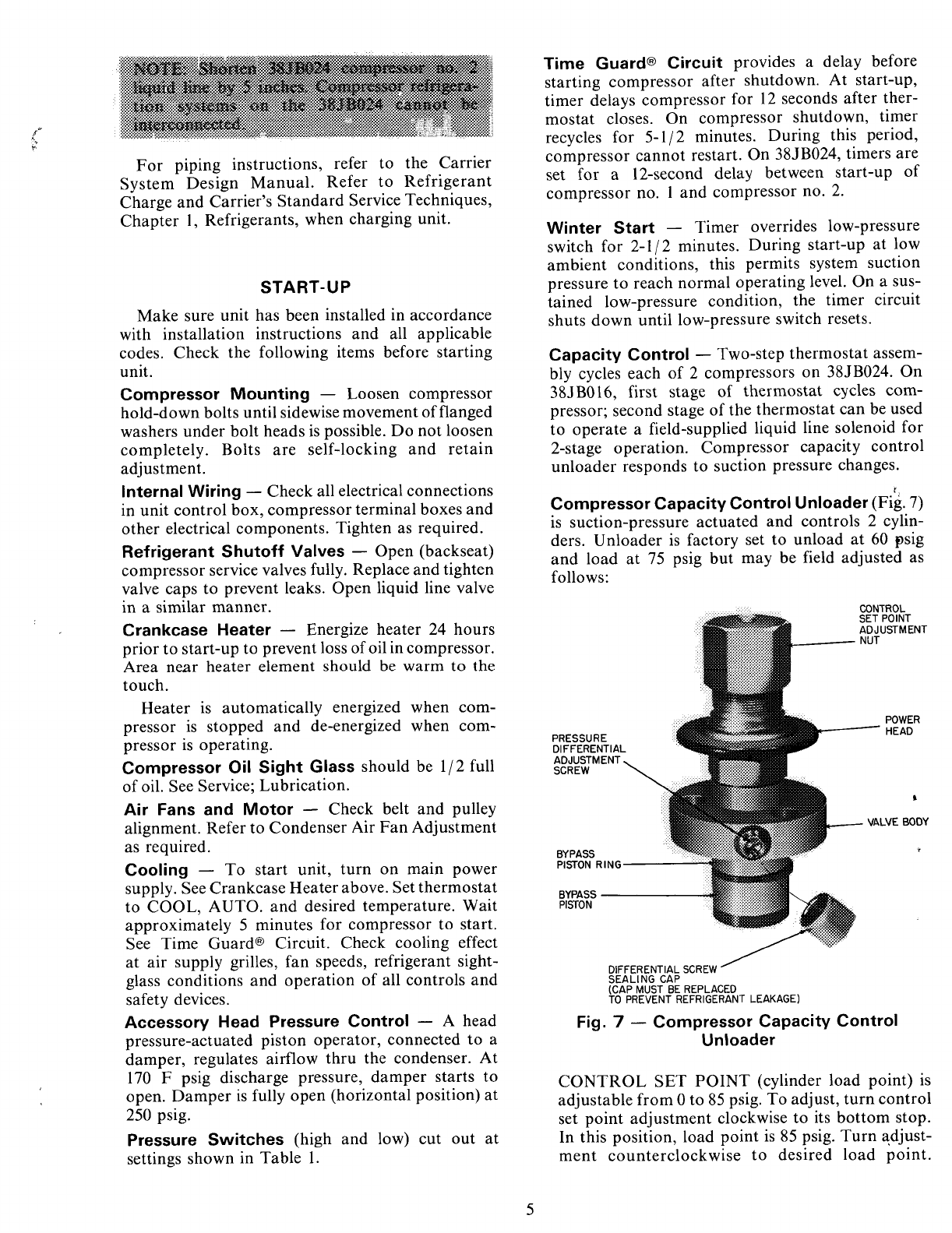 page 5 of carrier air conditioner 38jb user guide manualsonline com rh homeappliance manualsonline com Carrier Thermostat Manual Carrier Model Number Search