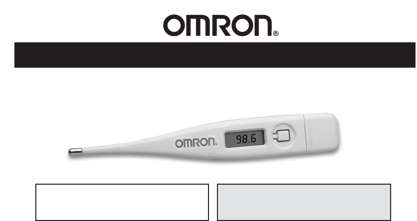 Omron Healthcare Thermometer Mc 301 User Guide Manualsonline