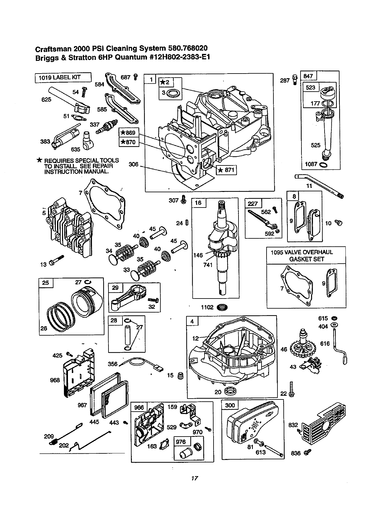 Page 17 of Craftsman Pressure Washer 580 User Guide