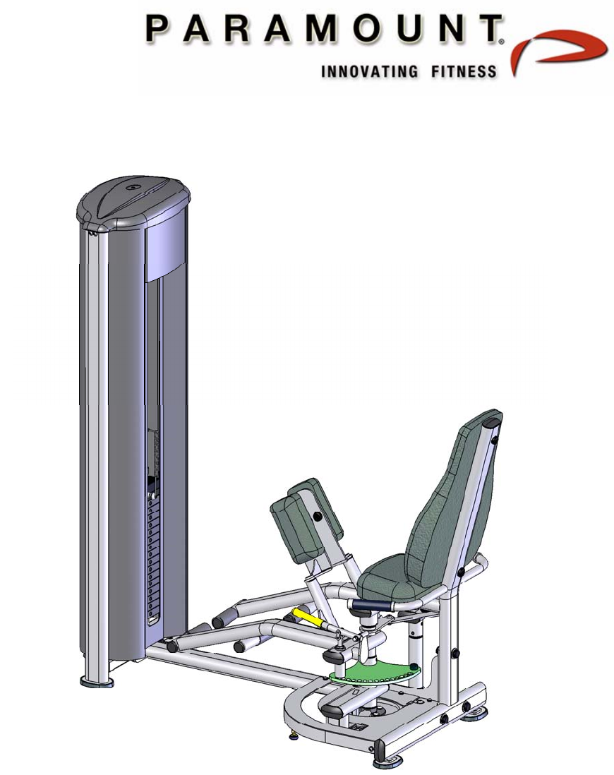 Paramount Furniture Home Gym FS 52 User Guide