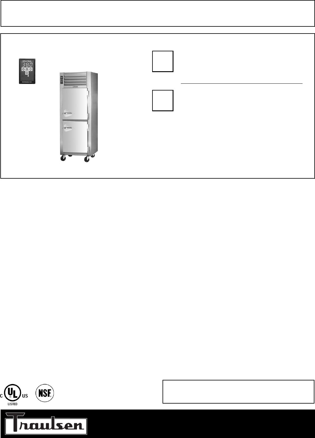 Traulsen refrigerator rdt132wut hhs user guide manualsonline standard product features cheapraybanclubmaster Image collections