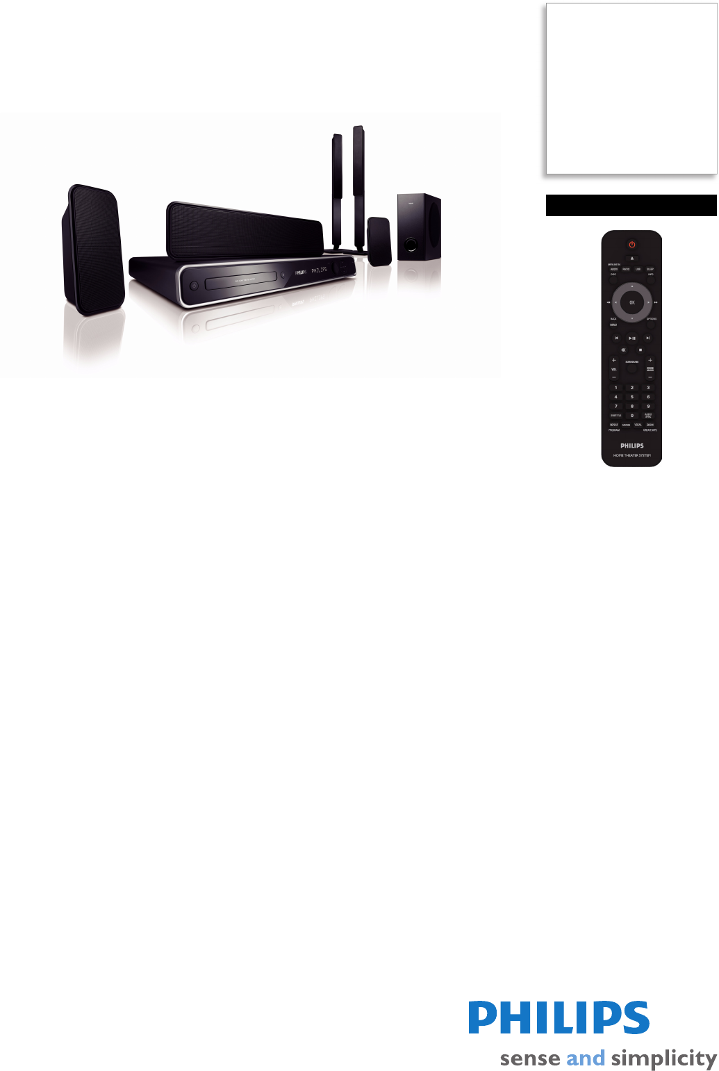 philips home theater system hts3366 98 user guide manualsonline com rh manualsonline com Philips Phone Systems VTech Home Phone