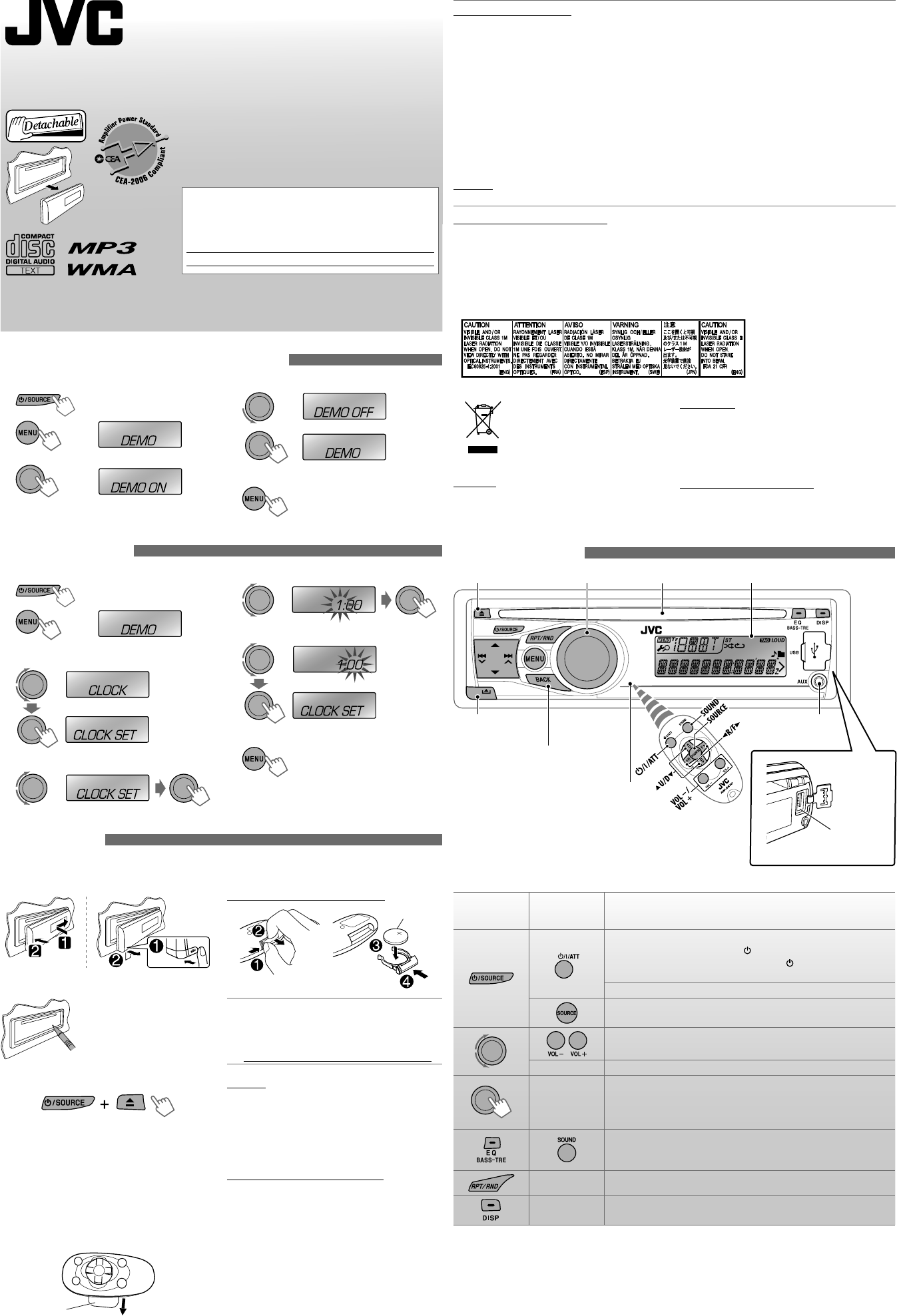 Jvc car stereo system kd s27 user guide manualsonline 1 en sciox Image collections