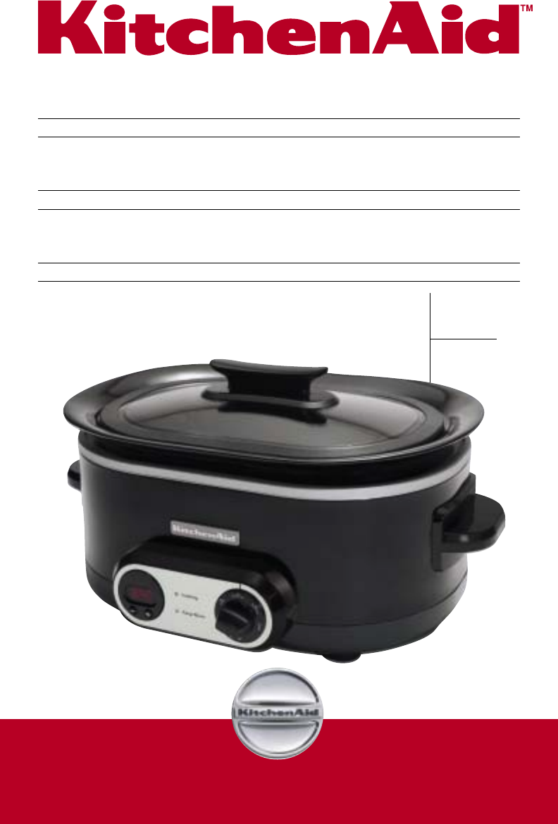 KitchenAid Slow Cooker KSC700 User Guide ManualsOnline.com