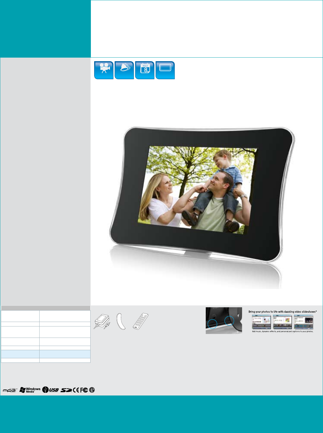 COBY electronic DP710 Digital Photo Frame User Manual