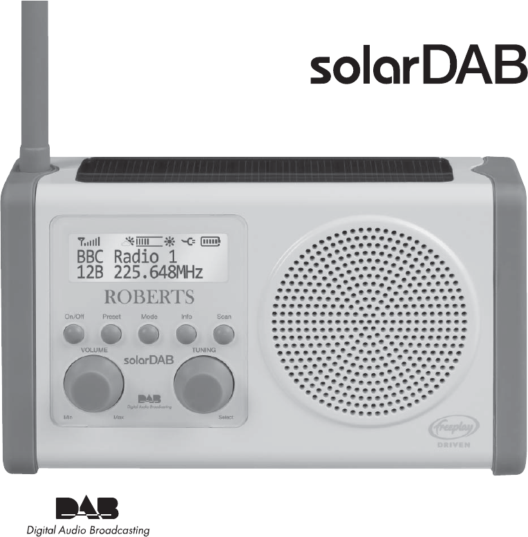 roberts radio portable radio solar powered dab radio user guide rh portablemedia manualsonline com roberts dab radio user manual Roberts Radios with Bluetooth UK