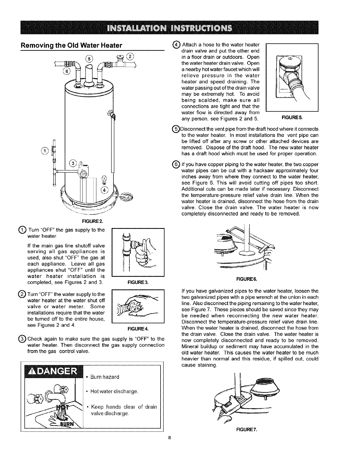 page 8 of kenmore water heater user guide. Black Bedroom Furniture Sets. Home Design Ideas