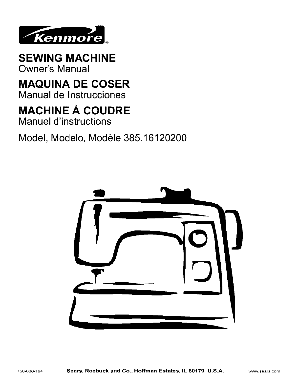 kenmore sewing machine 385 16120200 user guide manualsonline com rh fitness manualsonline com kenmore sewing machine owner manual model 385 kenmore sewing machine user manual