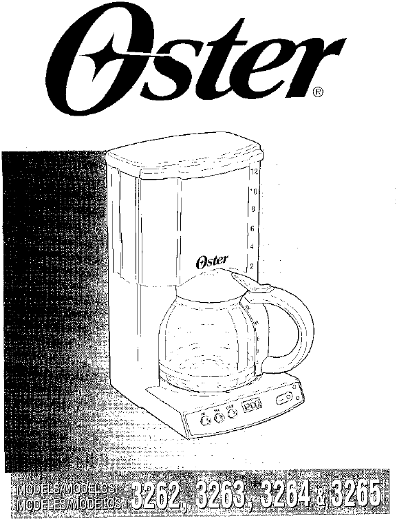 Oster Coffee Maker Troubleshooting : Oster Coffeemaker 3264 User Guide ManualsOnline.com