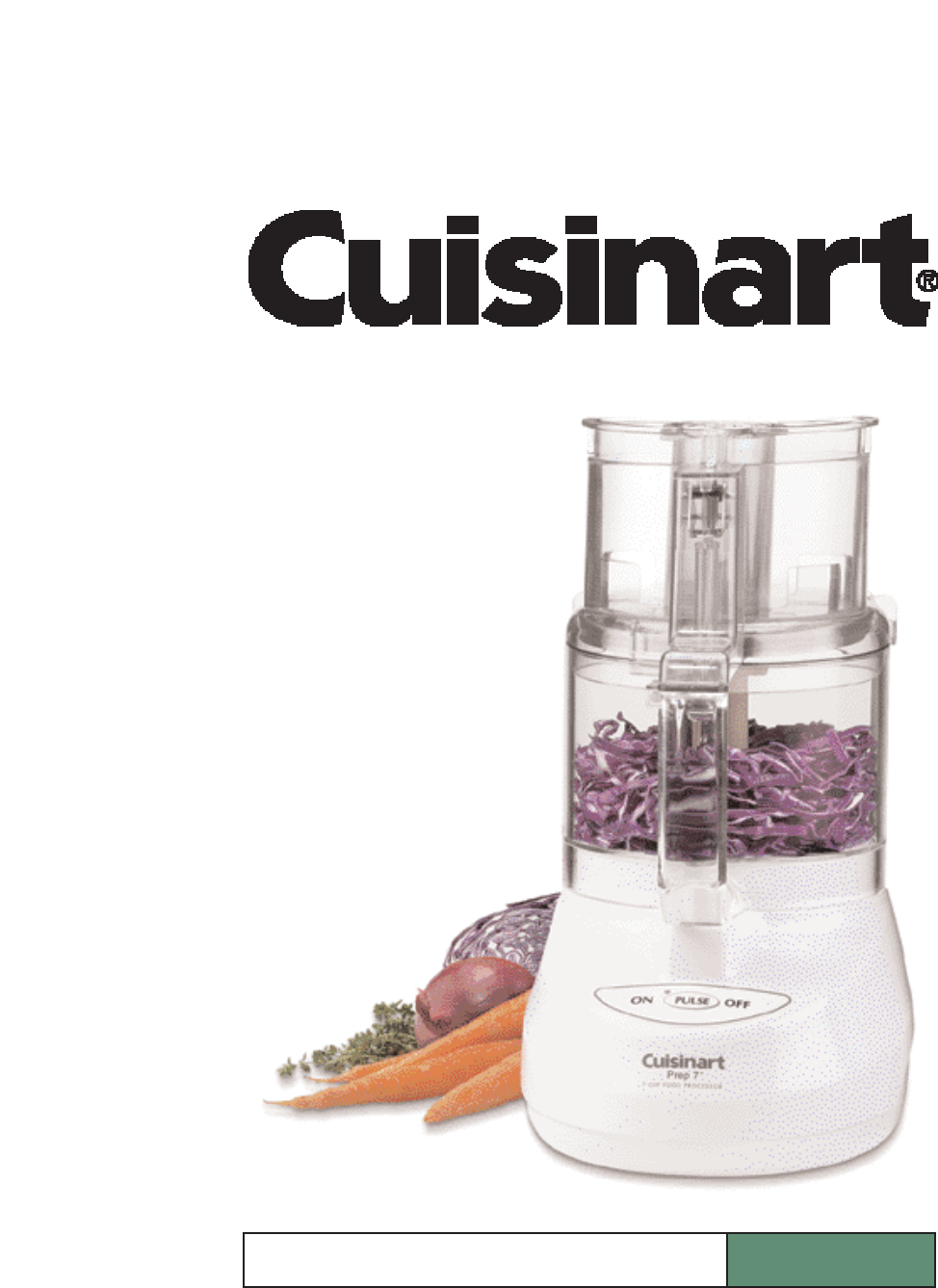 cuisinart 7 cup food processor manual