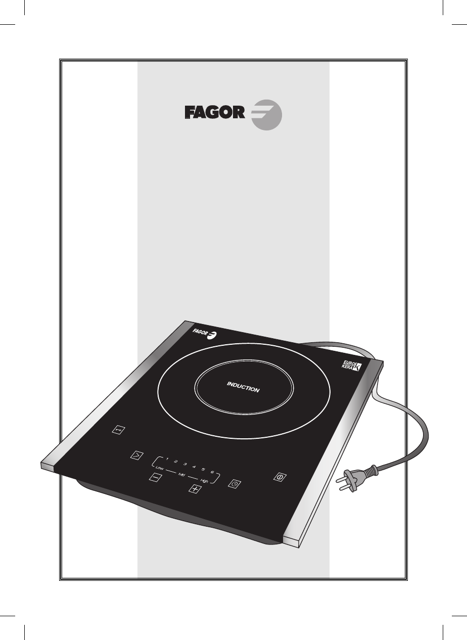 POR TABLE. INDUCTION. COOKTOP