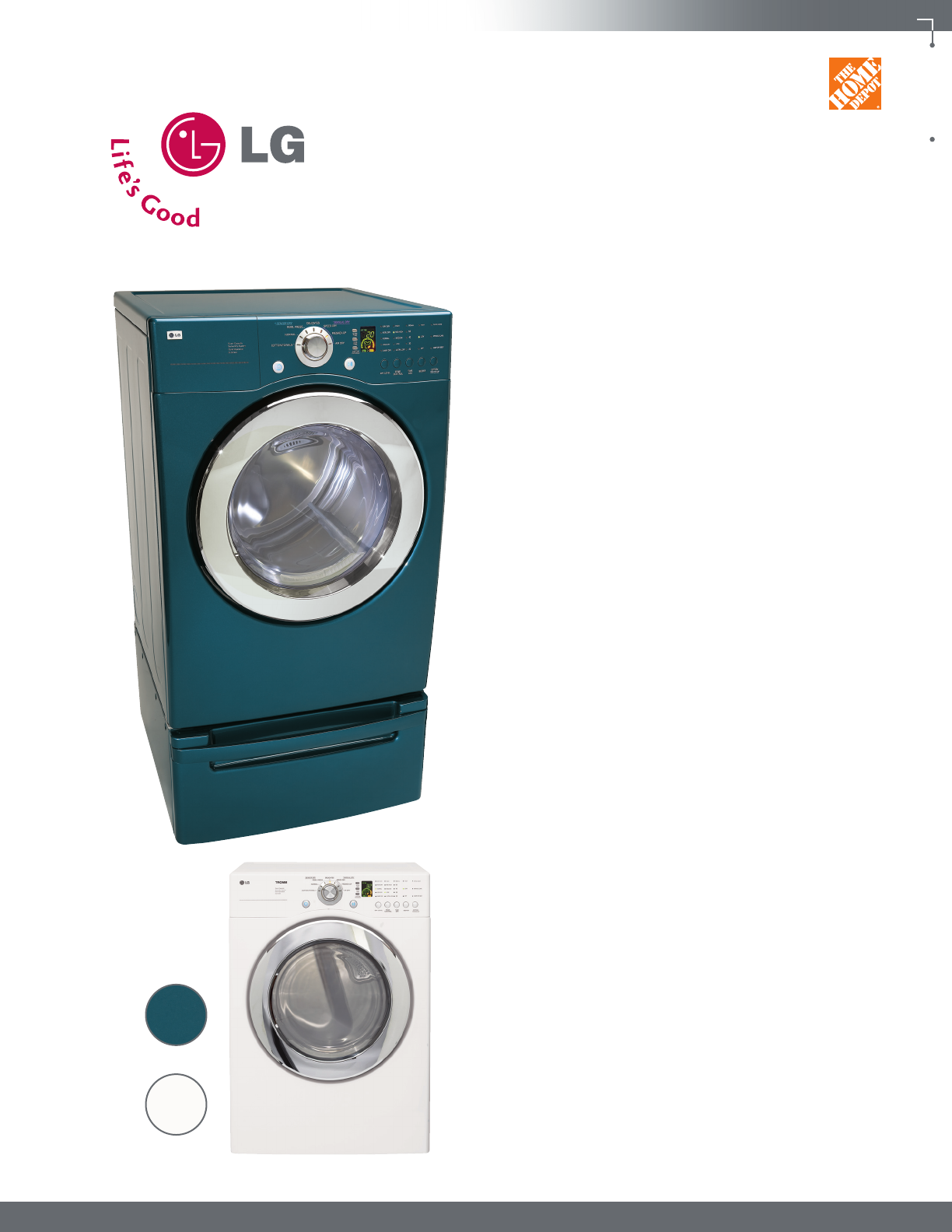 lg electronics clothes dryer d3744 user guide manualsonline com rh laundry manualsonline com LG WM1812CW Washing Machine LG Tromm Washer Manual