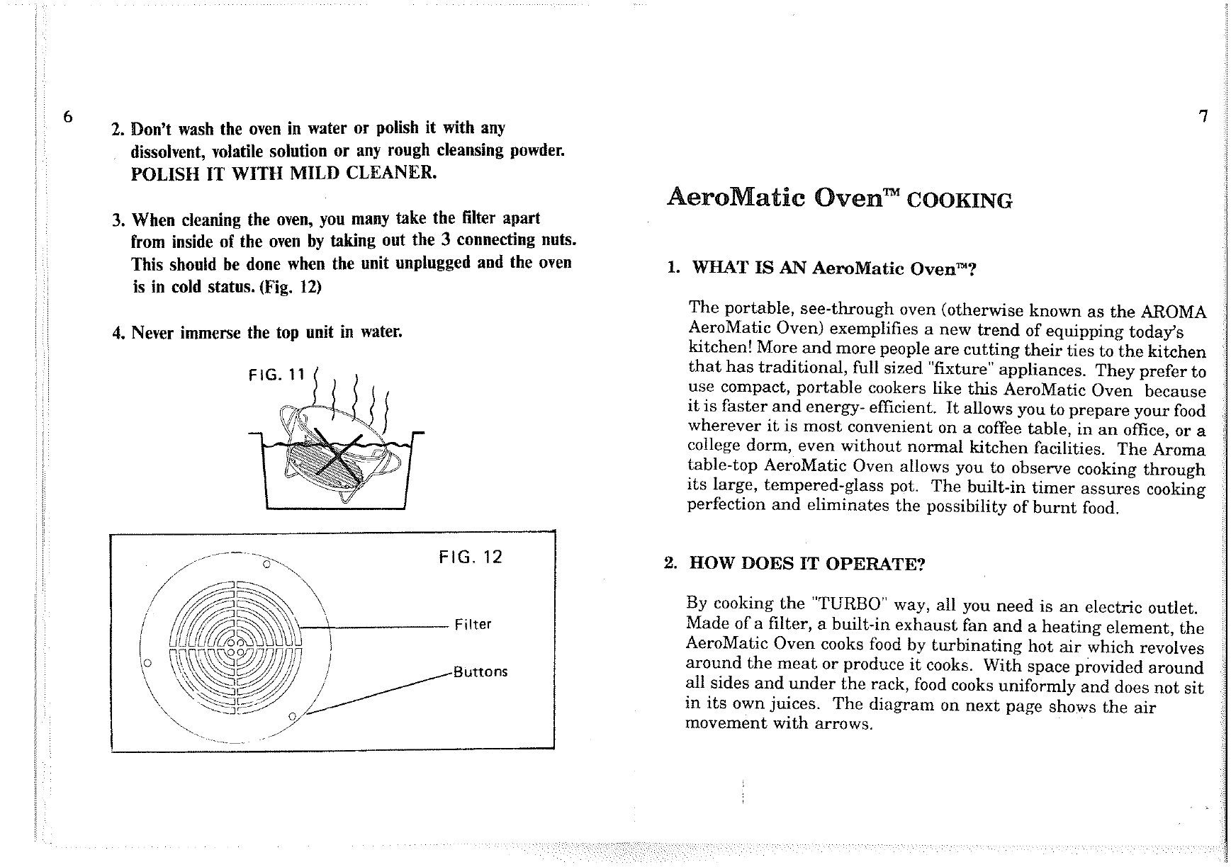 Page 7 Of Aroma Housewares Convection Oven AST 900A User Guide