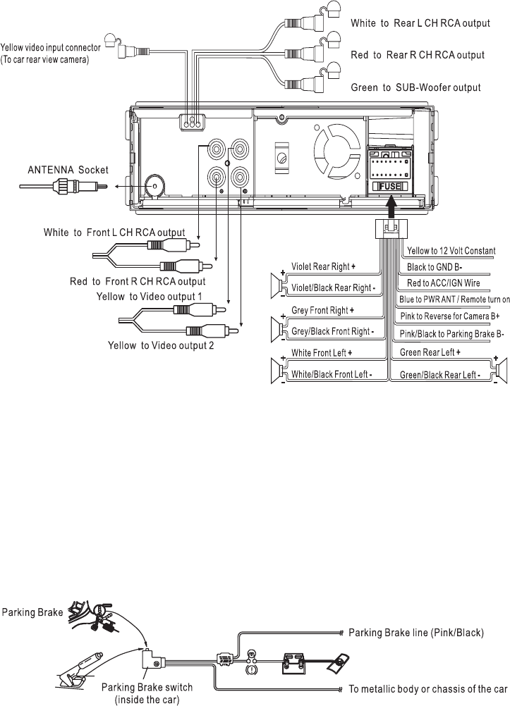 [QMVU_8575]  Page 7 of Boss Audio Systems Car Video System BV7300 User Guide |  ManualsOnline.com | Boss Dvd Wiring Diagram |  | User Manuals - ManualsOnline.com